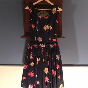 Laura Ashley vintage floral dress cotton size 8